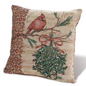 Cardinal Holiday Decorative Pillow