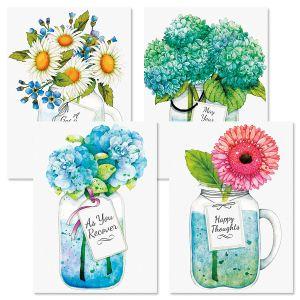 Mason Jar Get Well Greeting Cards