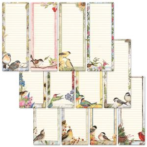 Birds Magnetic Shopping List Pads