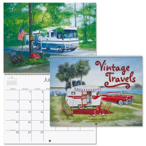 2020 Vintage Travel Trailers Wall Calendar