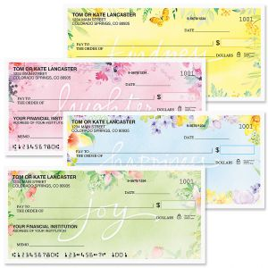Fresh Floral Personal Premium Checks