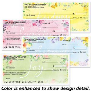 Fresh Florals Duplicate Checks