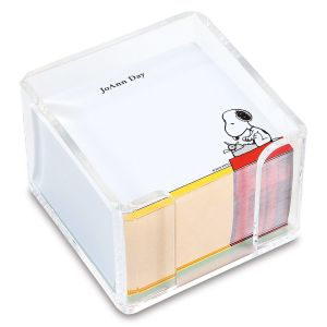 PEANUTS® Brights Personalized Note Sheets in a Cube