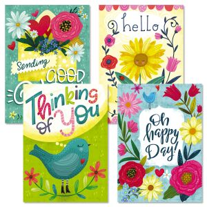 Hello Friend Thinking of You Greeting Cards