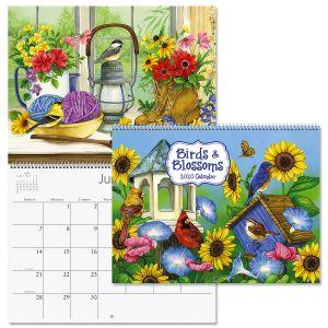 2020 Birds & Blossoms Wall Calendar