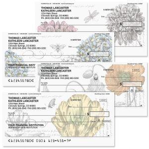 Green Botanical Personal Checks