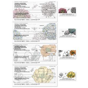 Botanical Single Checks With Matching Address Labels