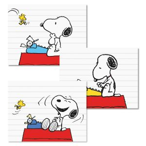 12 Snoopy's Typewriter Note Cards