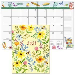 Whimsey Borders Desk Calendar 2021