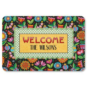 Mary Engelbreit® Custom Floral Welcome Mat