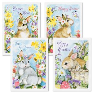 Easter Bunnies & Eggs Cards