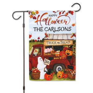 Truck or Treat Halloween Custom Garden Flag