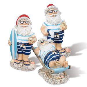 Coastal Santa Figurines