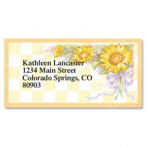 Sunflower Bouquet Border Address Labels