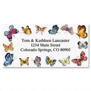 Butterfly Border Return Address Labels