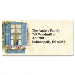 Window Seat Border Address Labels