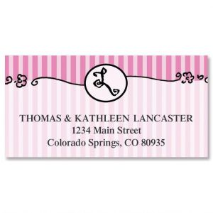 Parisian Initial Border Address Labels