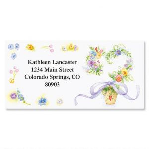 Spring Romance  Border Address Labels