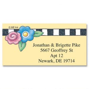 Mary's Garden Border Address Labels