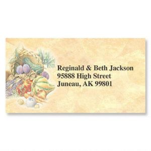 Plentiful Harvest  Border Address Labels
