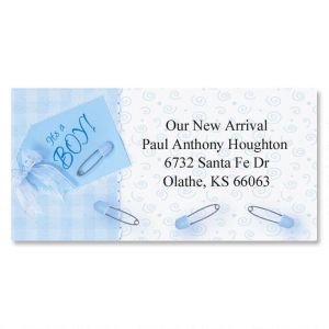 It's a Boy Border Address Labels