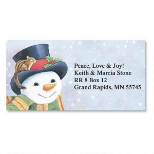 Snowman Border Address Labels