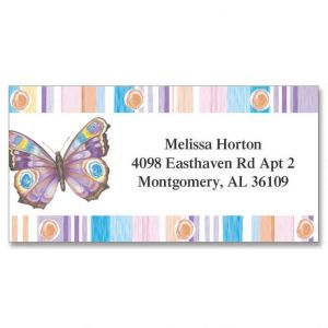 Butterfly Fantasy Border Address Labels