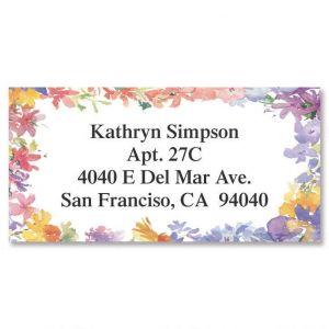 Floral Border Address Labels