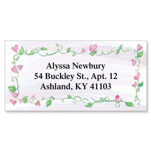 Hearts & Vines  Border Address Labels