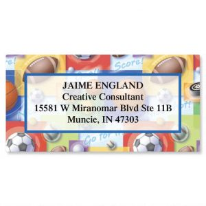 Sports Balls  Border Address Labels
