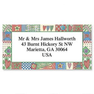 Patchwork Border Address Labels