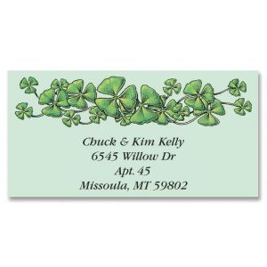 Shamrocks Border Address Labels