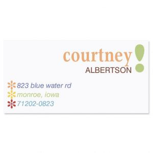 Hopscotch Border Address Labels