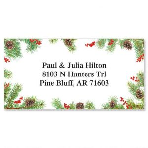 Classic Spruce  Border Address Labels