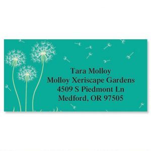 Dandelion Border Address Labels