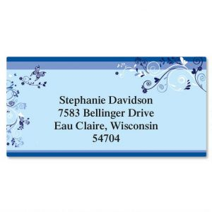 Midsummer Flight Border Address Labels