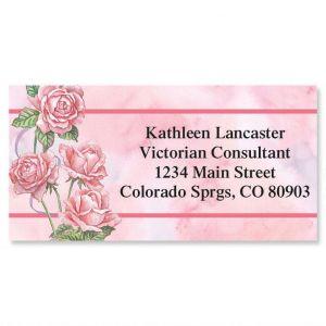Roses & Ribbons Border Address Labels