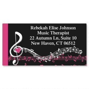 Heart and Song Border Address Labels