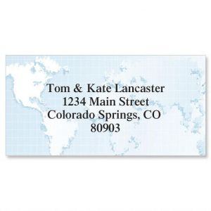 Globe Border Address Labels