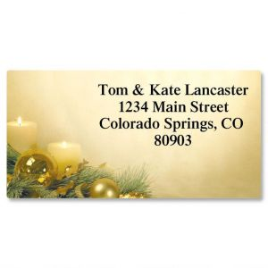 Glistening Border Address Labels