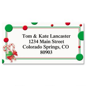 Peppermint Candies Border Address Labels