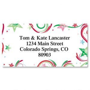 Stars In Motion Border Address Labels