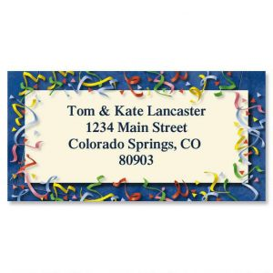 Confetti Border Address Labels