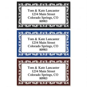 Adornment Border Address Labels  (3 Colors)