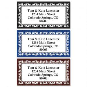 Adornment Border Return Address Labels  (3 Colors)