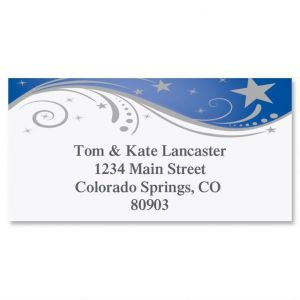 Splendid Star Border Address Labels