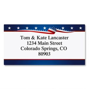 USA Proud Border Address Labels