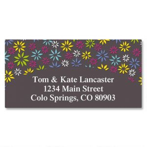 Flower Sky Border Address Labels