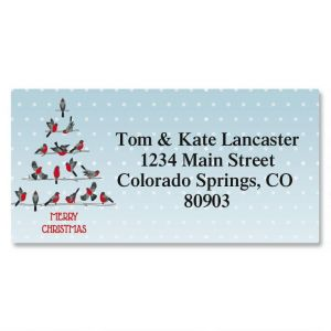 Festive Feathers Border Address Labels