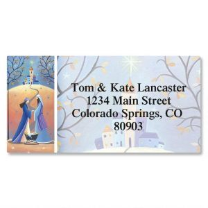 New Family Border Address Labels